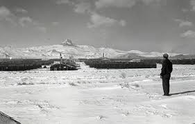 Showing the camp in winter